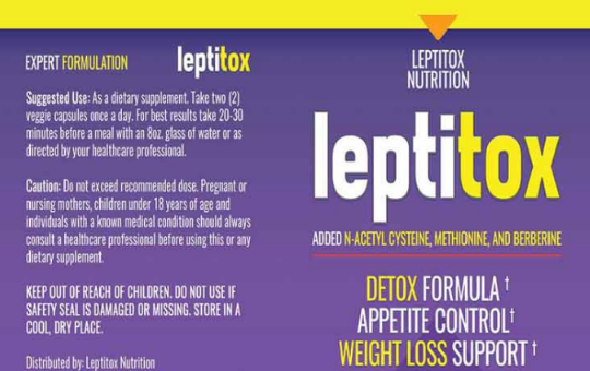 Weight Loss Leptitox  With 5 Year Warranty